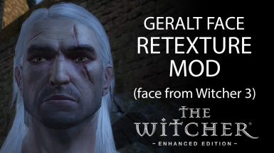 Geralt Face Retexture (Face from The Witcher 3)