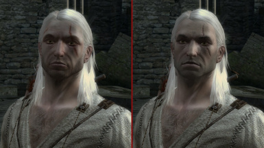 Geralt face and leather jacket retextured