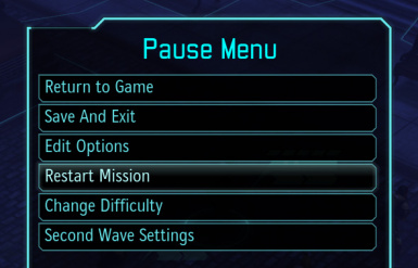 Restart Mission in Pause Menu