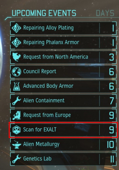 EXALT Scan Reminder (for Long War)