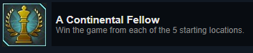 Continental Fellow Achievement Save