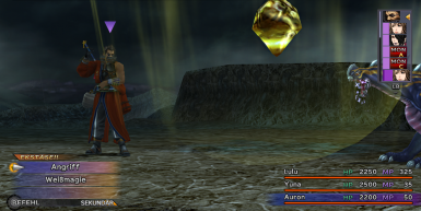 Psychic (Auron) can cause heavy damage with Battle Rod!