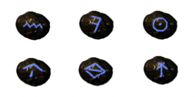 Different power of potions weapons armors runes