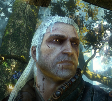 Battle Ravaged Geralt -Glowing Eyes and Lots of Options
