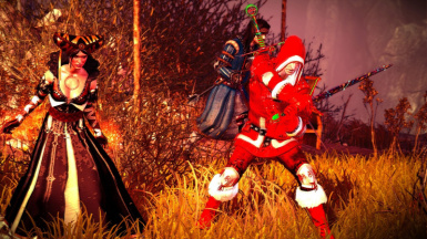 Santa Witcher in action