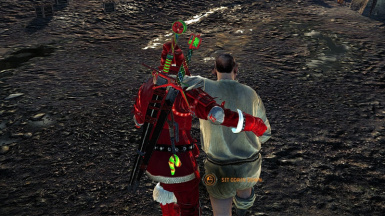 Santa Witcher back view
