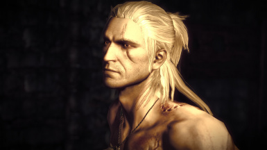 Lore-friendly Geralt with striga scar