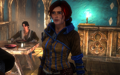 Blue Triss Outfit and Witcher 3 Face