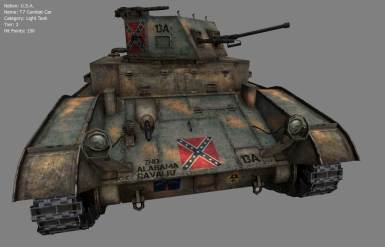 Alabama T7 Combat Car of the CSA