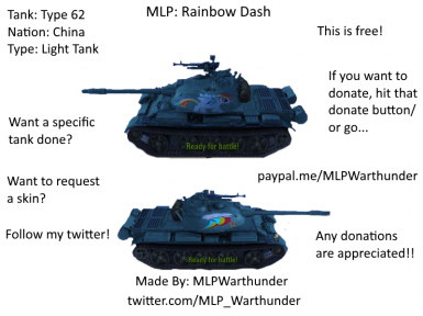 Type 62-Rainbow Dash Skin