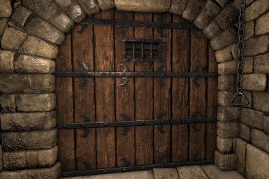 Wooden Dungeon Door with Window & Wooden Dungeon Door with Window at Grimrock - mods and community