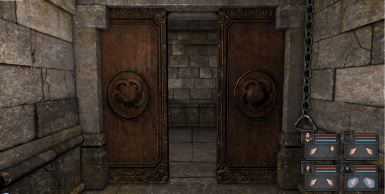 Wooden Door and Ornate door that slides into the wall