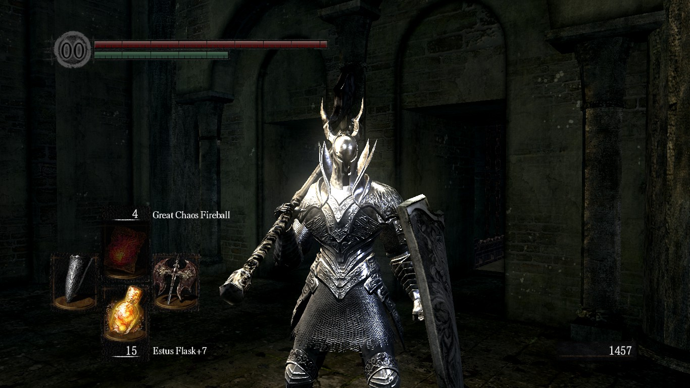White Black Knight Recolor With Artorias Shield And Black Knight