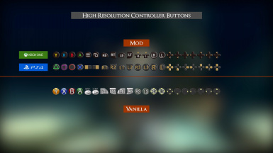 UI III - High resolution controller buttons