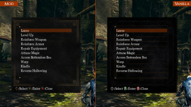 UI III - Bonfire Menu