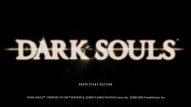 Dark Souls Title screen with unused trailer song