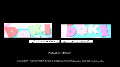 Doki Doki Literature Club Main Menu