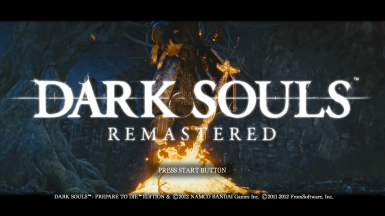 Dark Souls Remastered Custom Title Screen