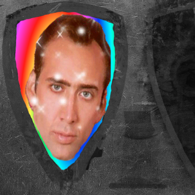 Nicolas Cage Grass Crest Shield