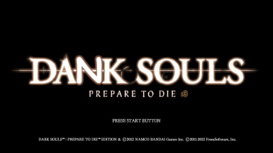 Dank Souls title screen
