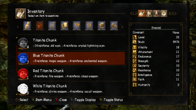 Titanite Chunk At Dark Souls Nexus Mods And Community Titanite chunks are few and far between during the early part of your playthrough. nexus mods