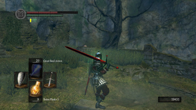 Demon Red and Black Claymore