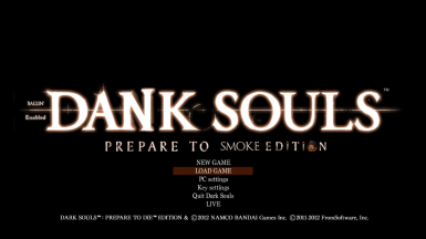 Dank Souls Titlescreen