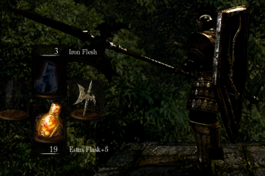 Black-Gold Giant Armor With Red Accent Plus Black-Gold Giant Halberd and Shield