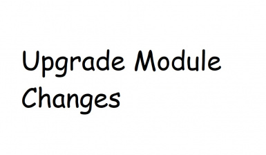 Upgrade module changes