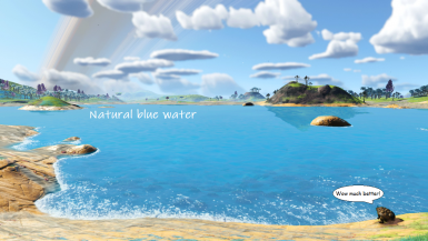 Natural Blue Water