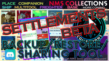 NMS Collections Backup Restore and Sharing Tool - with optional large NMS Sharing Discord integration