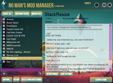 No Man's Mod Manager - By Bilago