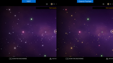 Colorful Starfields for NEXT