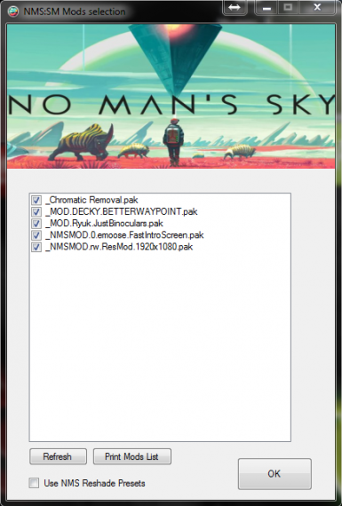 NMS Saves and mods Manager at No Man's Sky Nexus - Mods and