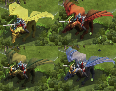 Elemental Archmages Dragon Mounts