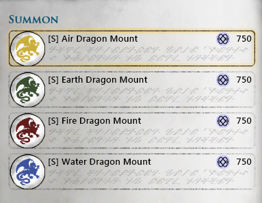 Dragon Mounts Spells