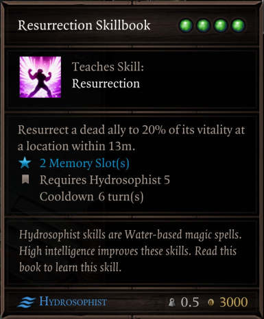 Resurrection Skillbook
