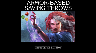 Armor-Based Saving Throws (Definitive Edition)