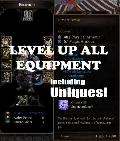 Level Up All Equipment - Including Uniques