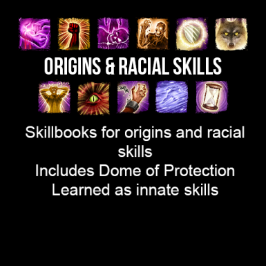 Skillbooks for Origins Racial skills Dome of Protection