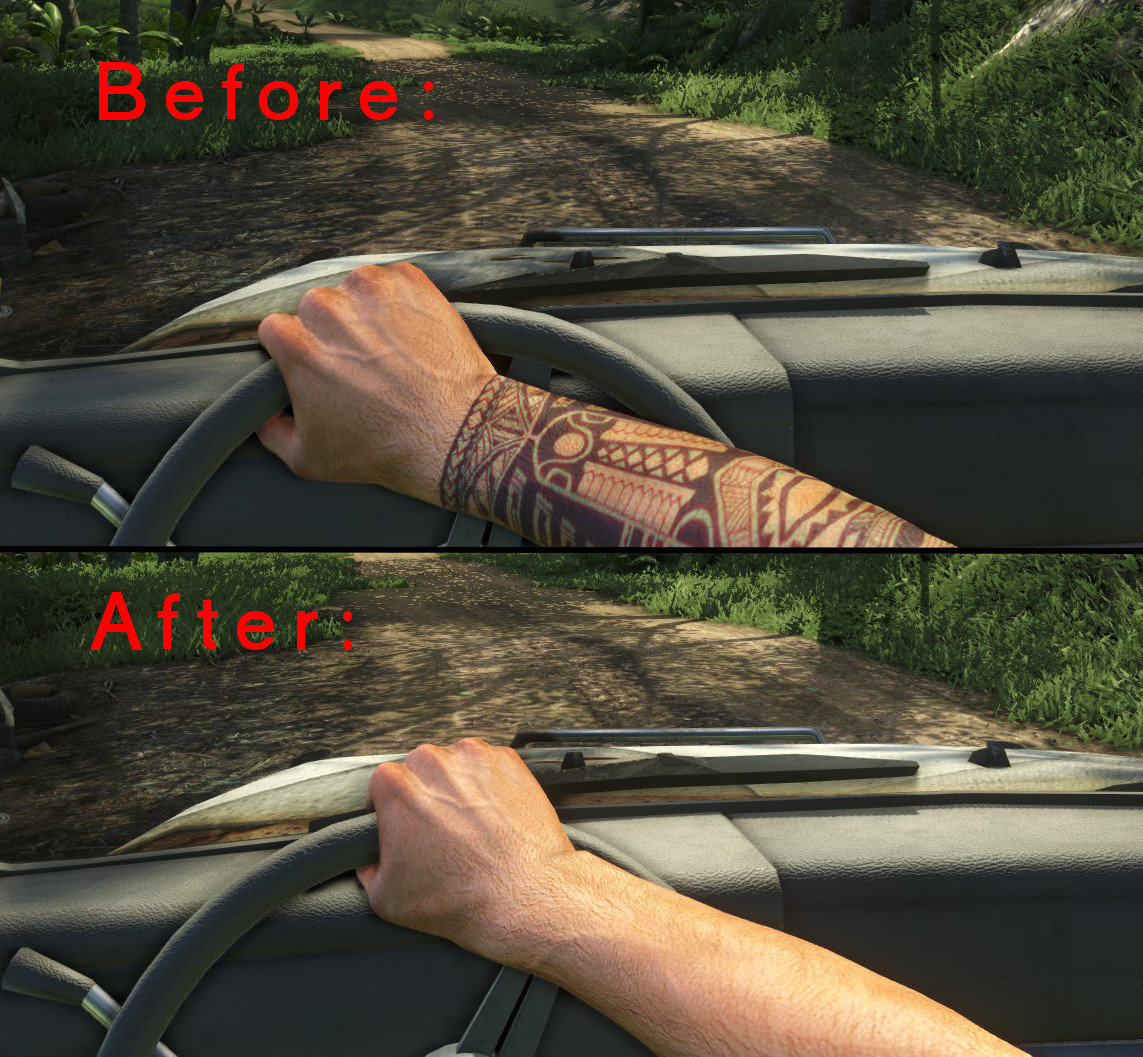 Remove Tribal DLC Tattoo at Far Cry 3 Nexus - mods and ...