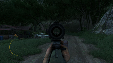 fixed optical sight reticle now get full scope field