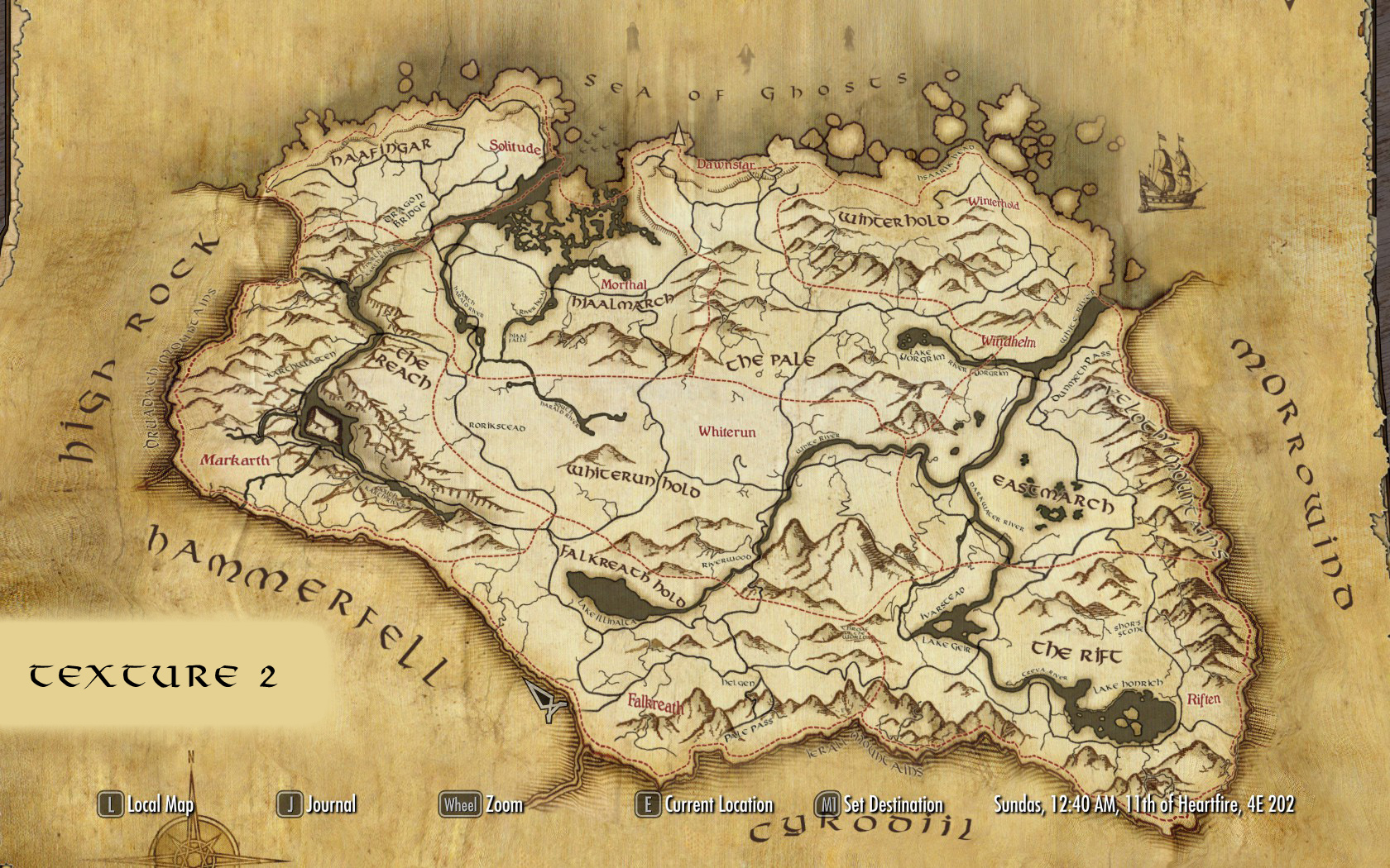 paper world map for sse at skyrim special edition nexus mods and
