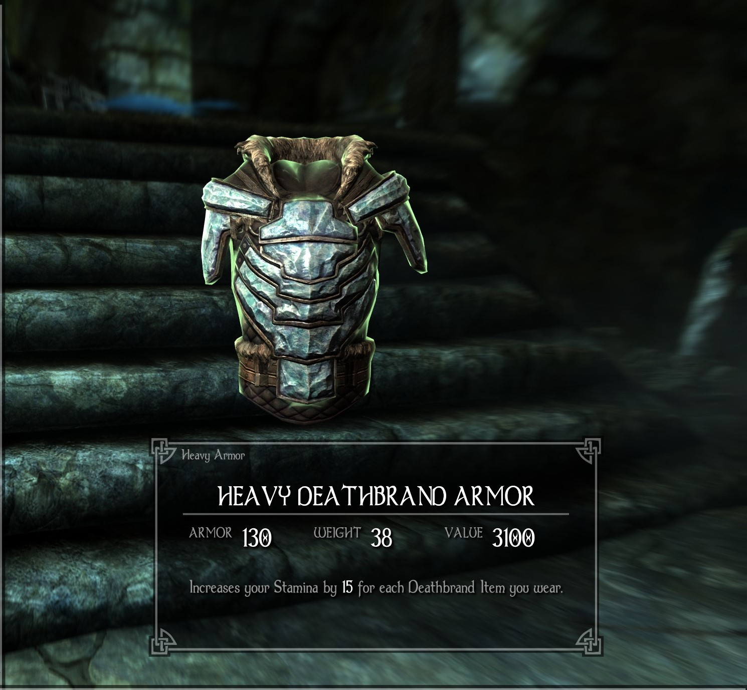 Heavy Deathbrand Armor At Skyrim Special Edition Nexus Mods And