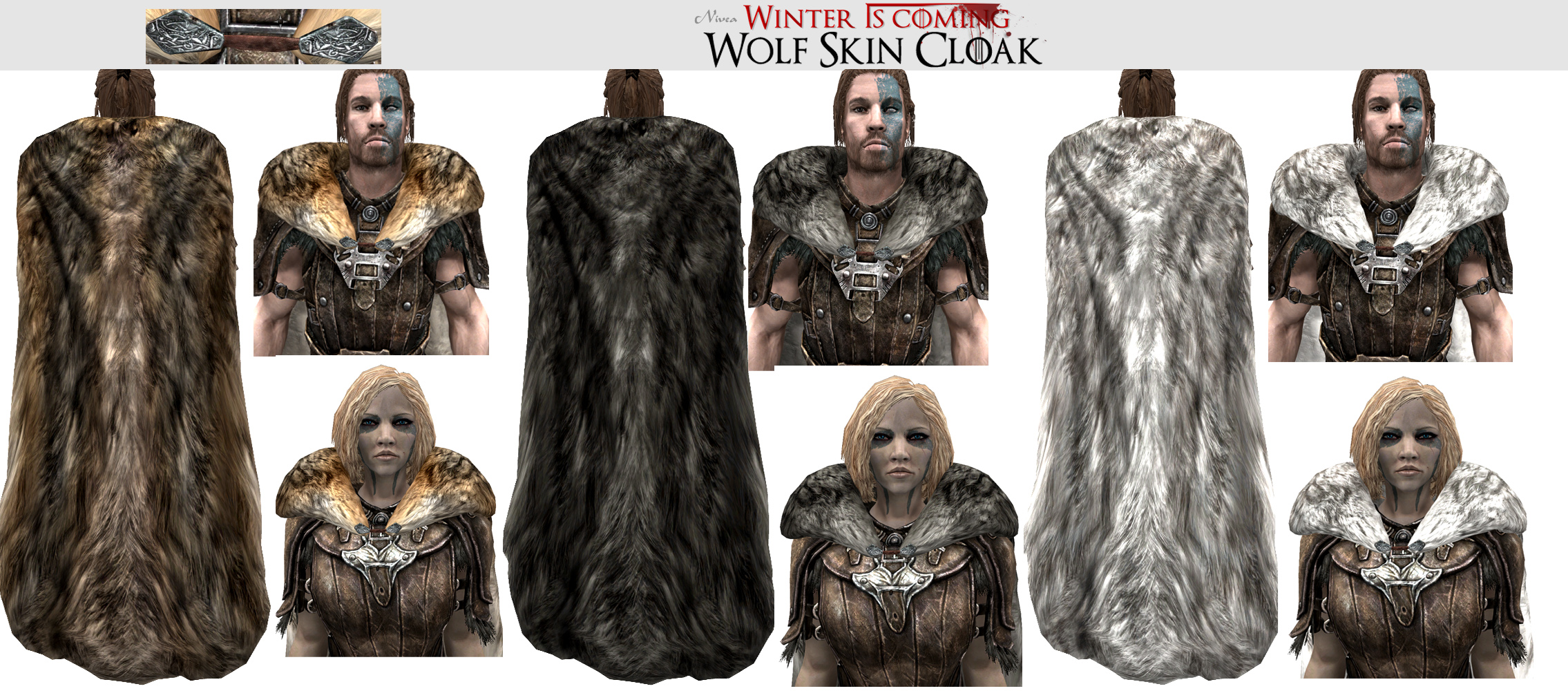 winter is coming sse cloaks at skyrim special edition. Black Bedroom Furniture Sets. Home Design Ideas