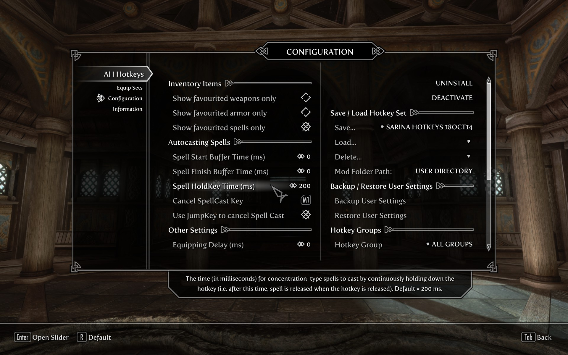 AH Hotkeys - Skyrim Hotkey Manager SSE at Skyrim Special Edition