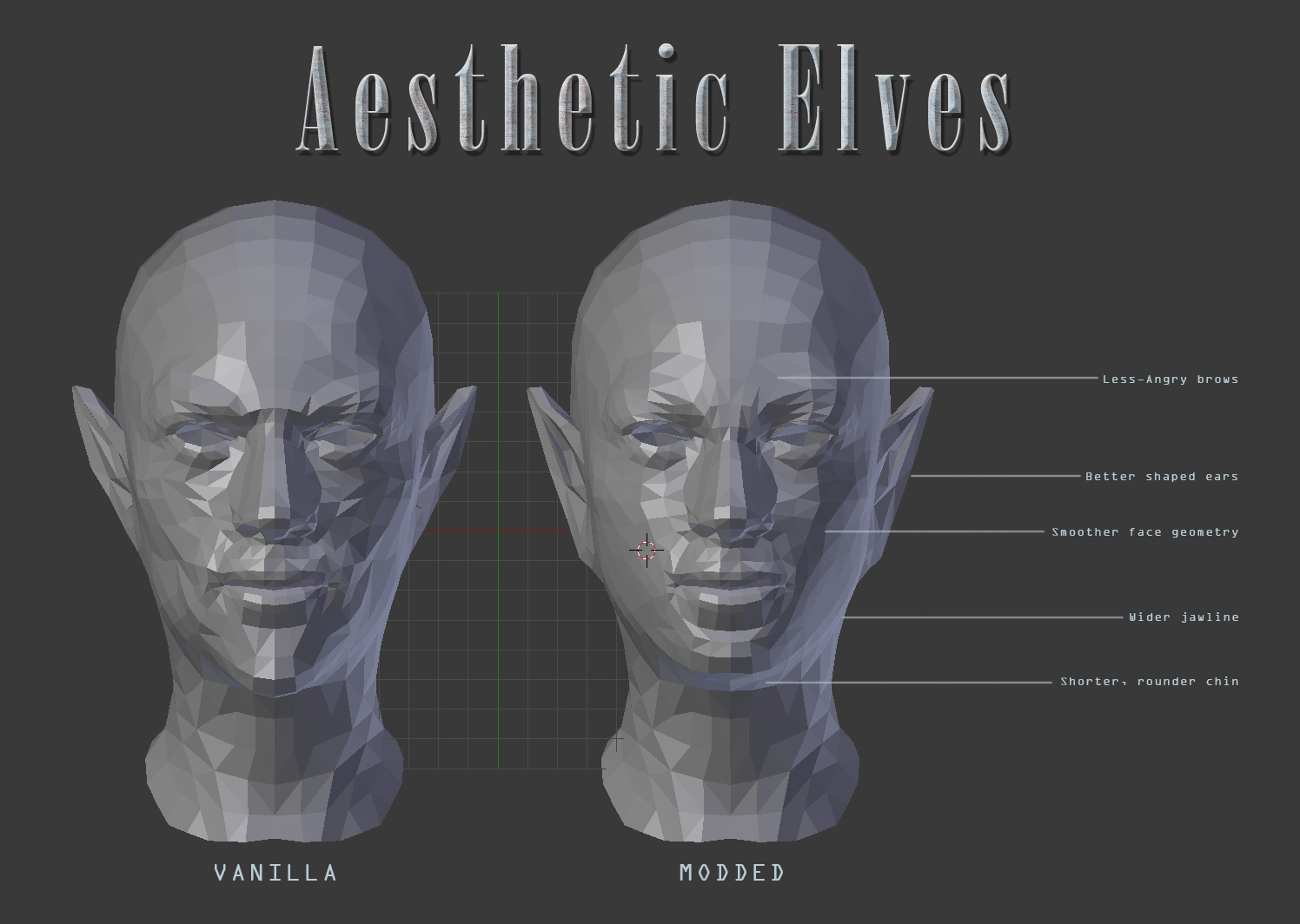 Aesthetic Elves at Skyrim Special Edition Nexus - Mods and