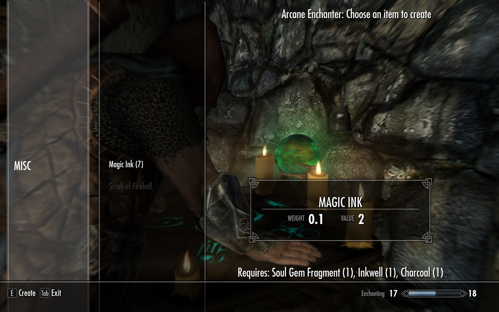 Skyrim Special Edition Staff Crafting Mod