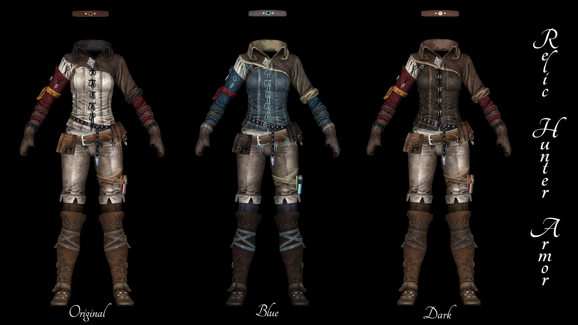 More Triss Armor Recolours Unp At Skyrim Special Edition