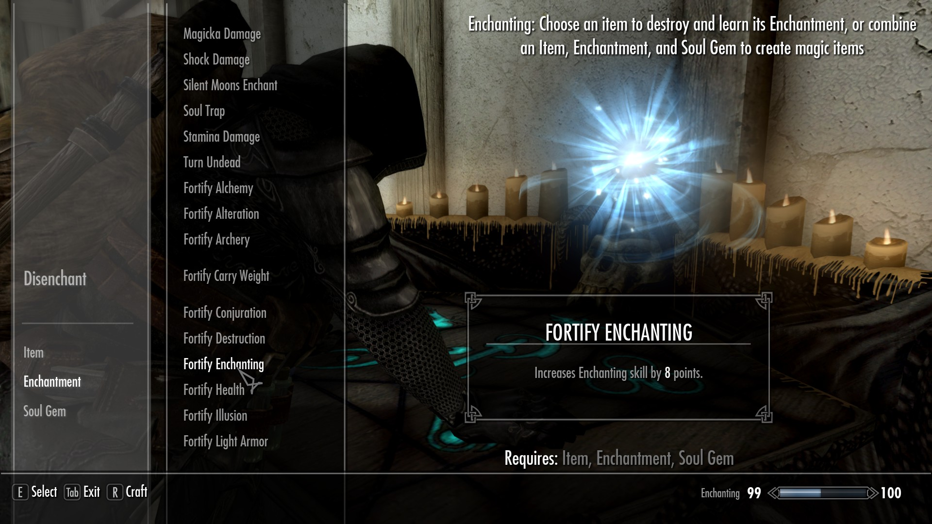 Fortify Enchanting at Skyrim Special Edition Nexus - Mods